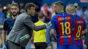 Luis Enrique: Conozco mucho a Jordi Alba y él me conoce a mí