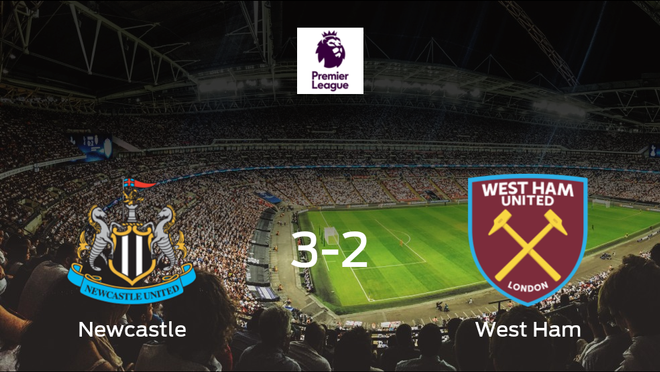 El Newcastle United gana 3-2 en casa al West Ham