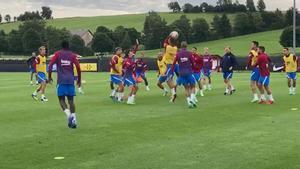 Último entrenamiento del Barça en el stage de Alemania