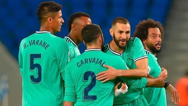 La victoria del Madrid sitúa a los de Zidane en el liderato