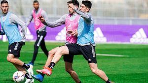 Imagen de un entrenamiento del Valladolid