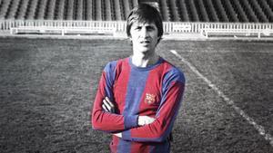Johan Cruyff, un ídolo para la afición del FC Barcelona