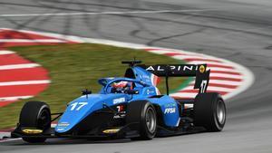Víctor Martins , el más rápido entre los 30 pilotos de la F3 en el Circuit de Barcelona