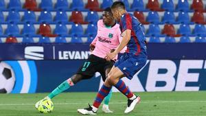 Dembélé ha anotado el tercer gol del Barça ante el Levante
