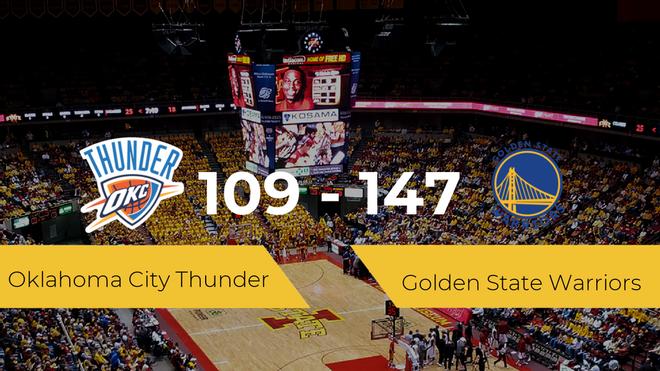 Golden State Warriors se queda con la victoria frente a Oklahoma City Thunder por 109-147