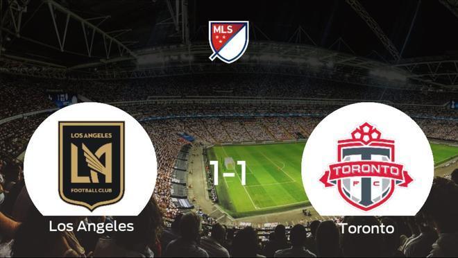 El Los Angeles FC y el Toronto FC logran un punto tras empatar a uno