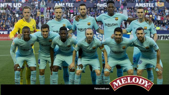 La alineación del FC Barcelona para enfrentarse al Levante en el Ciutat de València