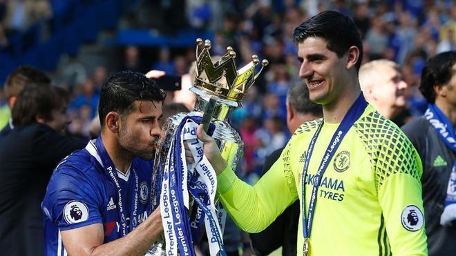 Courtois se ha proclamado campeón de la Premier con el Chelsea