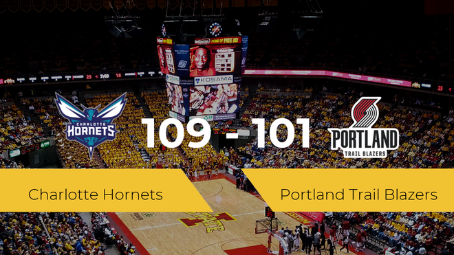 Triunfo de Charlotte Hornets ante Portland Trail Blazers por 109-101