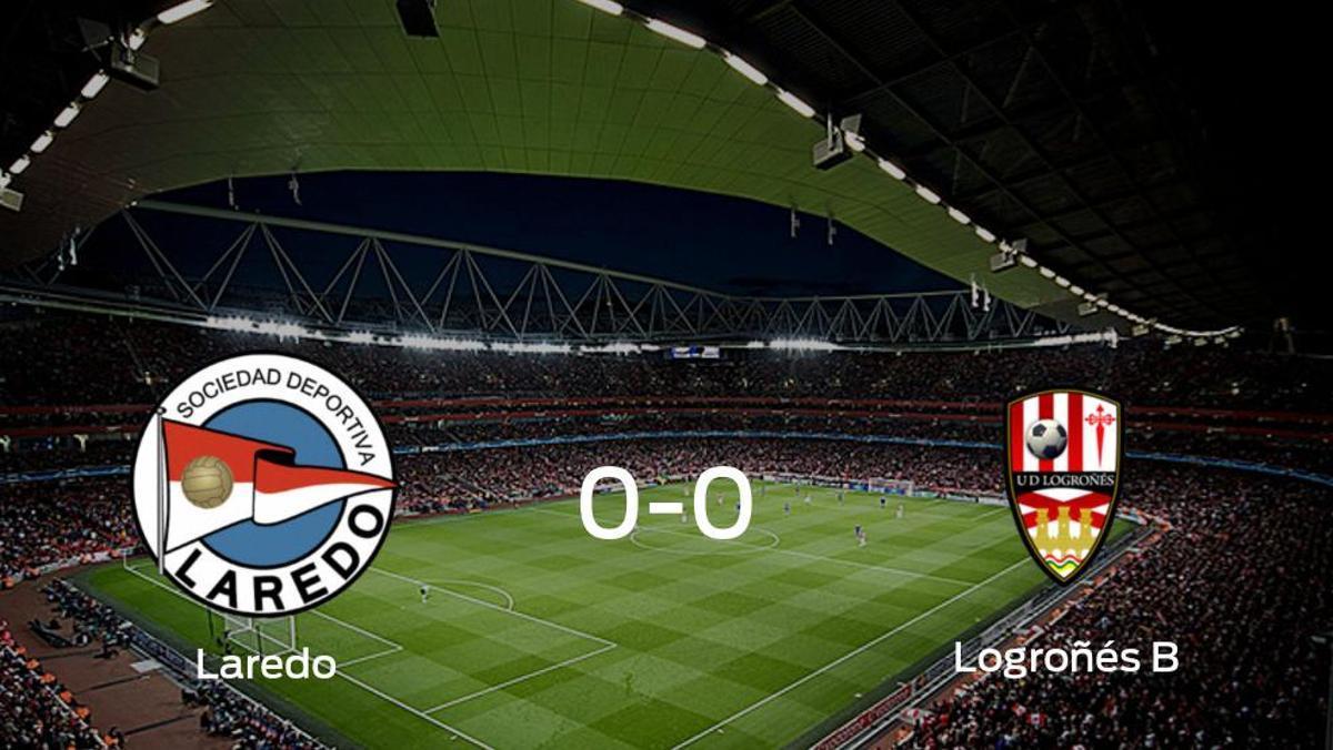 El Laredo y el Logroñés B no encuentran el gol y se reparten los puntos (0-0)