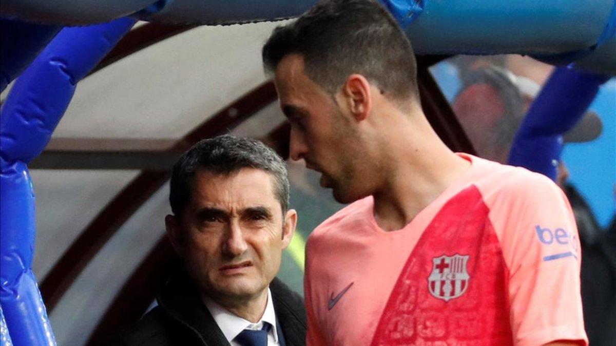 Valverde, durante el partido contra el Eibar