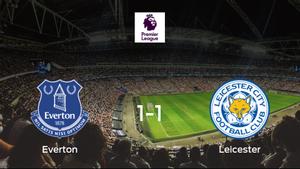 El Everton y el Leicester City finalizan su encuentro liguero con un empate (1-1)