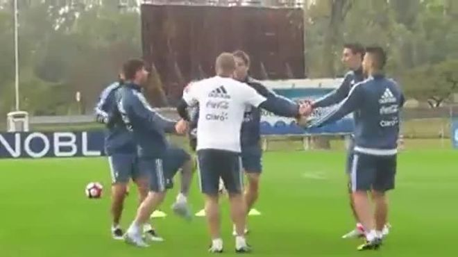Así fue el último entrenamiento de Mascherano con Argentina