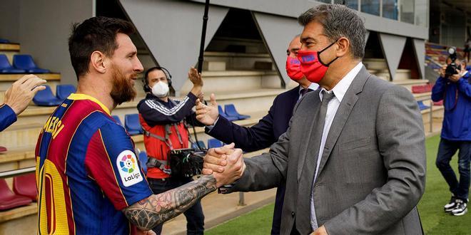 Laporta y Messi ya negocian