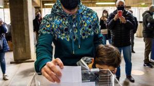 Leo Messi, en el momento de la votación