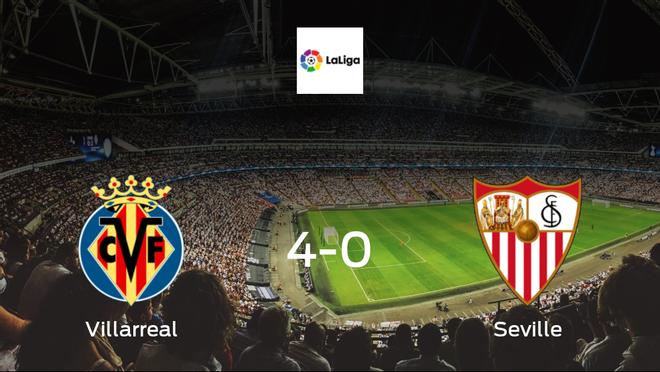 Villarreal blaze past Seville, scoring 4 at the Estadio de la Ceramica without reply