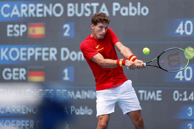 Pablo Carreño, durante su partido ante Dominick Koepfer.