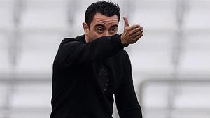 Xavi, durante un partido con el Al Saad