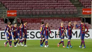 El 1x1 del Barça ante el Getafe al descanso