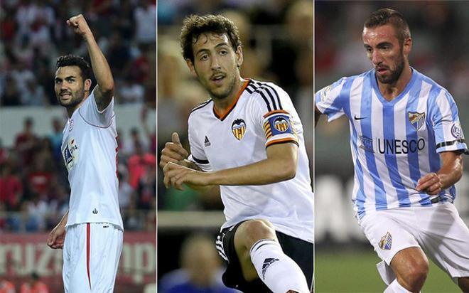 Luis Enrique tendrá otro fichaje. Iborra, Parejo y Darder de izquierda a derecha