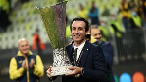 Unai Emery conquistó con el Villarreal su cuarta Europa League