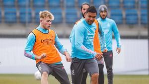 Los futbolistas blancos prepararon el enfrentamiento del sábado ante el Levante