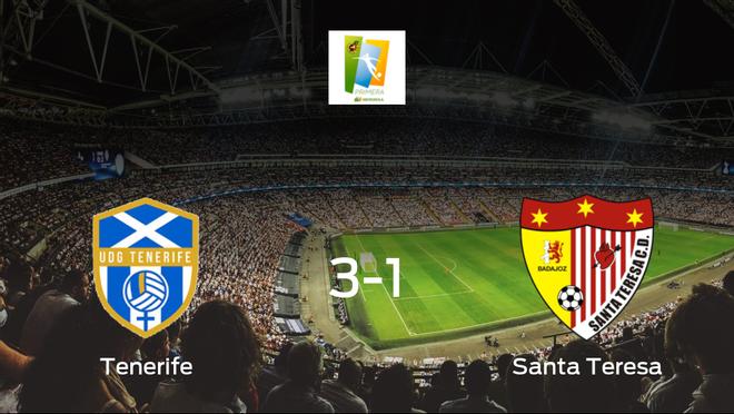 El Granadilla Tenerife vence 3-1 al Santa Teresa Badajoz y se lleva los tres puntos