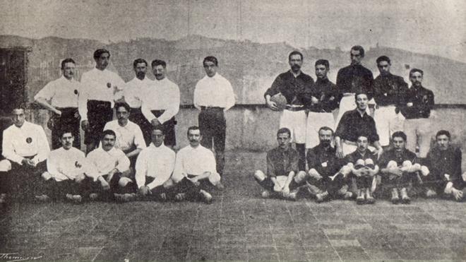La curiosa imagen de un derbi de 1905