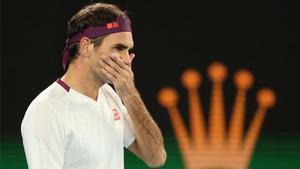 Roger Federer, durante el Open de Australia.