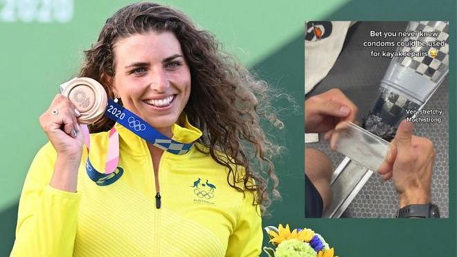 Jessica Fox conquista el bronce tras arreglar su kayak con un condón