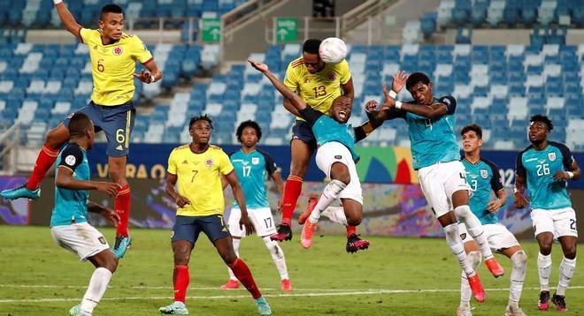 Colombia inició su camino con victoria ante Ecuador