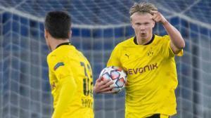 Haaland volvió a ser el líder del Borussia. Atención al golazo del delantero