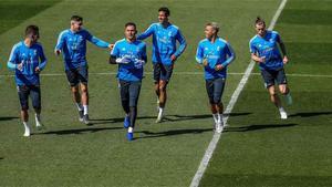 Courtois no entrena antes de recibir al Huesca