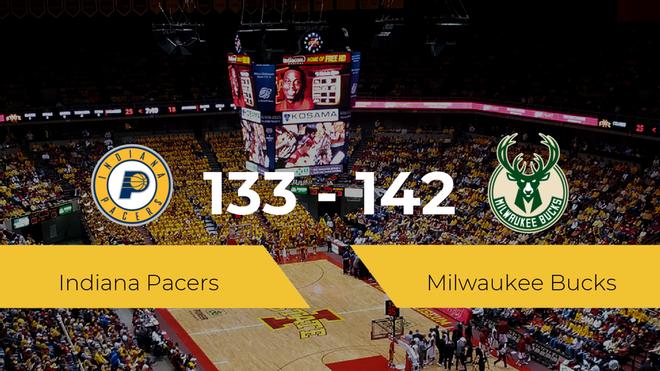 Milwaukee Bucks logra derrotar a Indiana Pacers (133-142)
