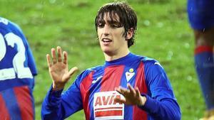 Bryan Gil celebrando su gol ante el Granada