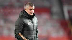 Ole Gunnar Solskjaer durante un encuentro con el Manchester United