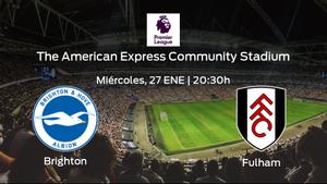Previa del encuentro de la jornada 20: Brighton and Hove Albion - Fulham