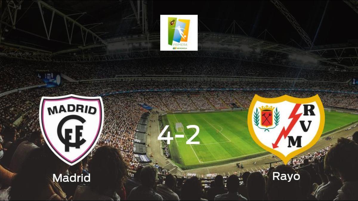 Tres puntos para el equipo local: Madrid CFF 4-2 Rayo Vallecano Femenino