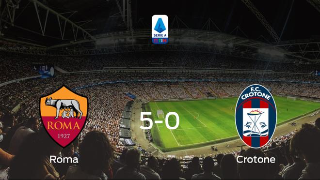 Goleada de la AS Roma frente al Crotone (5-0)