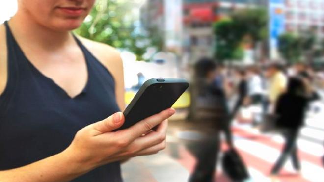 Crean una aplicación de móvil para no chocarte por la calle