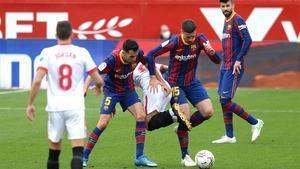 El 1x1 del Barça, al descanso