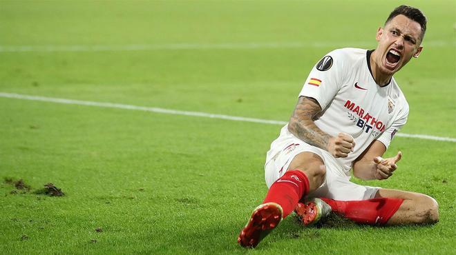 Con este gol Ocampos metió al Sevilla de cabeza en las semis