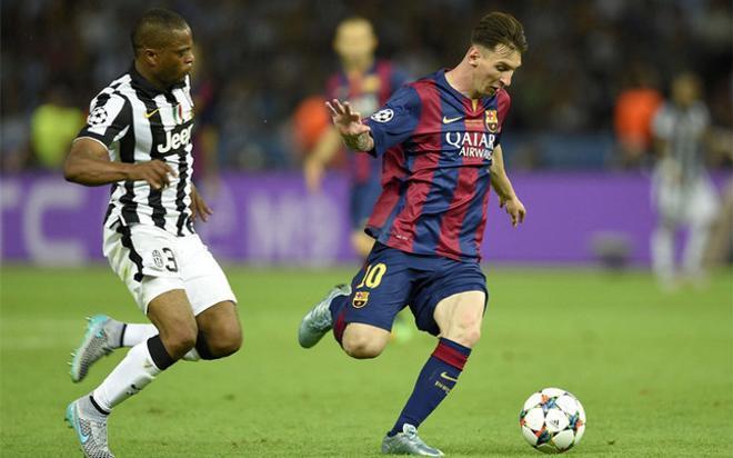 Messi, en un momento de la final contra la Juventus