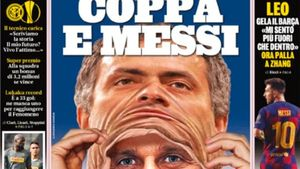 Inter: copa y Messi, titular de la Gazzetta Dello Sport