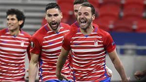 Soldado, celebrando un gol