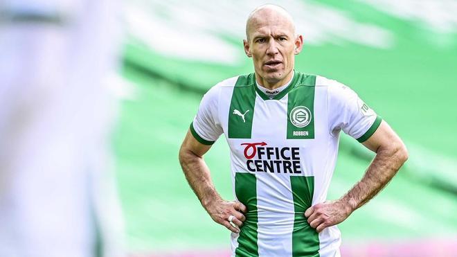 Robben con la camiseta del Groningen