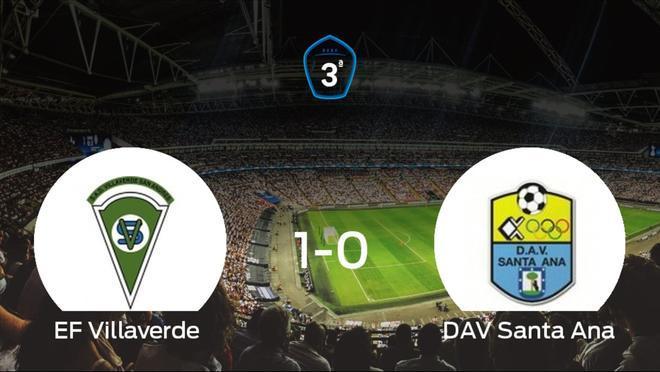 El Villaverde venció al Santa Ana por 1-0