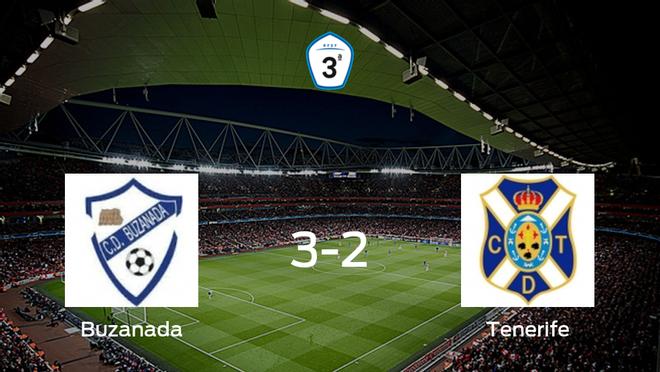 El Buzanada se impone al Tenerife B en los cuartos de final de los playoff de ascenso de Tercera División (3-2)