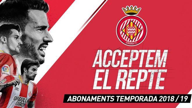 La nueva campaña de abonados del Girona FC se llama Aceptamos el reto