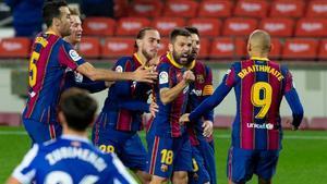 Así narraron las radios el golazo de Jordi Alba ante la Real Sociedad